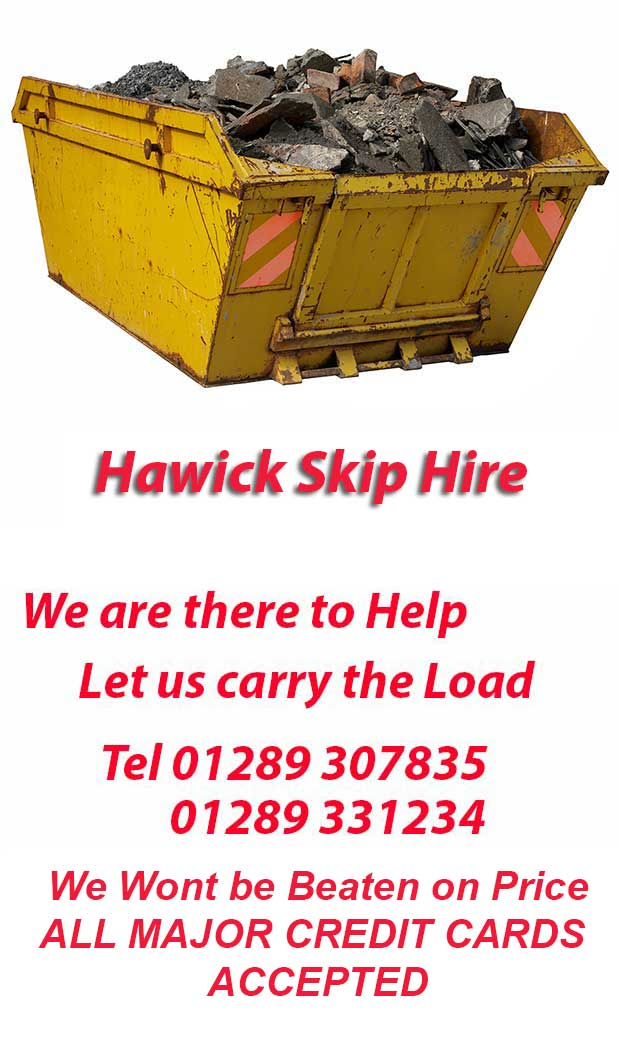 Hawick Skip Hire covers Spittal